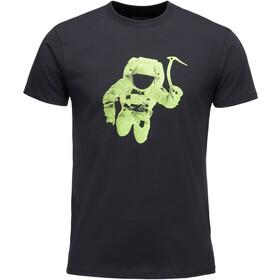 Black Diamond Spaceshot Bluzka z krótkim rękawem Mężczyźni, black/envy green